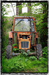 Seen better days! (jaydee11) Tags: tractor derelict abandoned trees unloved mangertonmill dorset frame