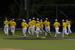 After the Game, Under the Lights (brucetopher) Tags: nauset high school varsity highschool baseball ballplayer baseballplayer ballfield baseballdiamond baseballfield diamond bigdiamond youth sports sport kidssports youthsport athlete athletes athletic ball field park ballpark player play passtime pasttime game contest summer yellow gold turf