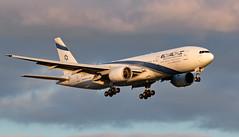 4X-ECC - Boeing 777-258(ER) - LHR (Seán Noel O'Connell) Tags: elalisraelairlines elal 4xecc boeing 777258er 777 772 heathrowairport lhr egll tlv llbg 27l ly317 ely317