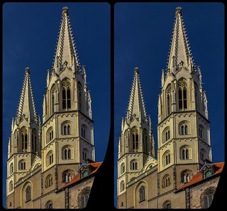 St. Peter und Paul church of Görlitz 3-D / Cross-Eye / Stereoscopy / HDR / Raw