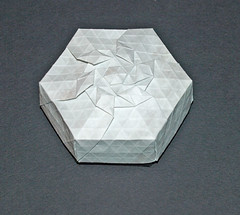Diamond crown tessellation (mganans) Tags: origami tessellation box