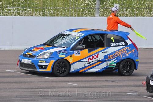 Harry Gooding in the Fiesta Junior championship at Rockingham, June 2017