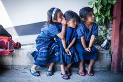 Whispering Girls in San Antonio (mayanfamilies) Tags: guatemala fundaciónfamiliamaya mayanfamilies mayan families charity donate canon eos 5d vitamins distribution