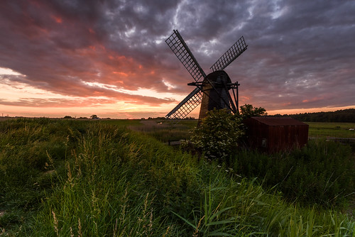 Sunset at Herringfleet