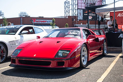 The Legend (Hunter J. G. Frim Photography) Tags: supercar pennsylvania cf charities cfcharities ferrari f40 classic italian turbo v8 red rosso corsa legend wing manual ferrarif40 rossocorsa