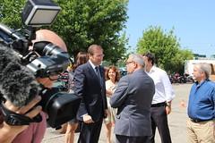 Pedro Passos Coelho em visita à Autoridade Nacional Protecção Civil