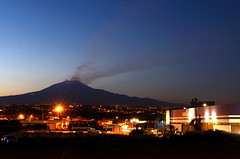 The giant at the blue hour (ciccioetneo) Tags: etna bluehour misterbianco catania sicilia sicily ciccioetneo