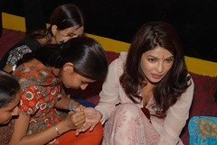 Priyanka Chopra, UNICEF Goodwill ambassador for the promotion of Child and Adolescent rights visited Anganwadi Centre in Nanakpura Village (Sanganer Project), district Jaipur on 1st September 2011. With the participation of central and state government Ra (unicefindia) Tags: adolescence celebrities communitycentre girl grouppeople india nationalgoodwillambassador women