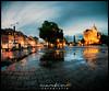 Domplatz Erfurt (Krueger_Martin) Tags: sky nacht night blau blue city stadt urban reflex reflections spiegelung regen rain pfütze domplatz dom erfurt thüringen langzeitbelichtung light lights licht hdr photomatix wideangle weitwinkel ultraweitwinkel sigma sigma1224mmexdghsm