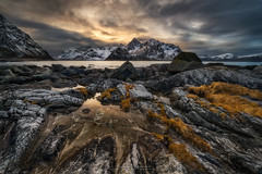 Triangles (Alexander Lauterbach Photography) Tags: triangles lofoten norway norge nordland north winter snow ocean water mountain travel landscape sony a7r a7rii