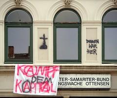- (txmx 2) Tags: hamburg graffiti scrawl ottensen banner