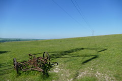 South Downs of Sussex (RUJSC) Tags: farm field down downs green blue grass dirt sky summer england britain uk 2017 may