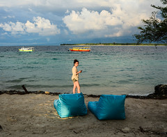 Seascape of Gili Islands in Indonesia (phuong.sg@gmail.com) Tags: aquamarine atsea beach blue coast coral cove dreambeach dreamisland dreamlike exotic flair gili greenery indonesia island leisure malediven meditative meno natural nature palmfrond paradise perfect prospect quiet relax rest sand seychelles sky southsea summer tourism travelling tropic turquoise vacation