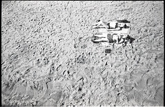 (Space) (Robbie McIntosh) Tags: leicam2 leica m2 rangefinder streetphotography 35mm film pellicola analog analogue negative leicam summicron analogico leicasummicron35mmf20iv blackandwhite bw biancoenero bn monochrome argentique summicron35mmf20iv autaut dyi selfdeveloped filmisnotdead leicasummicron35mmf2i strangers candid kodaktrix kodak trix guessexposure sunny16 nometering kodakd76 d76 onthebeach bathers summertime summer sand beach colonnaspezzata girls bikini