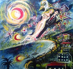 Marc Chagall Remake. (Igli Marion) Tags: marc chagall hebrew jewish painter remake love lovers sky nice dreamy painting marcchagall igli iglimarion paintingonsale art