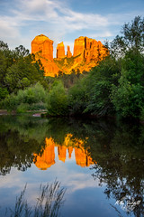 Cathedral Rock (Mike Verrill) Tags: cathedral rock sedona red river arizona d7200 oakcreek sunset reflections