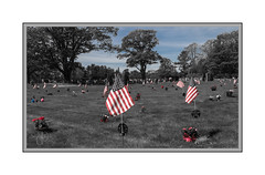 Memorial Day (Me in ME) Tags: maine brunswick memorialday cemetary flags decorationday stjosephscemetary