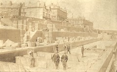 Victoria Terraces under construction,  Bridlington 1905 (archive ref DDX2031-3-1) (East Riding Archives) Tags: seaside holiday holidays coast coastal resort resorts town towns tourism tourists bridlington promenade