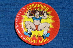 R. Crumb's Devil Girl Paper Plate (Party Partners 2004) (Donald Deveau) Tags: robertcrumb rcrumb devilgirl paperplate