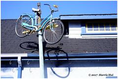 Hang Up Your Bike - Steveston XT4555e (Harris Hui (in search of light)) Tags: harrishui fujixt1 digitalmirrorlesscamera fuji fujifilm vancouver richmond bc canada vancouverdslrshooter mirrorless fujixambassador xt1 fujixcamera fujixseries fujix fuji35mmf2 fujiprimelens fixedlens standardlens steveston bicycle bike stevestonvillage bikeshop sunny weekend wheels shadow