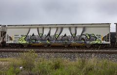 (o texano) Tags: houston texas graffiti trains freights bench benching awal wholecar