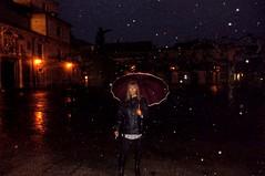 Lluvia nocturna (Alberto Ramos C.) Tags: zamora europe spain españa umbrella paraguas rain night