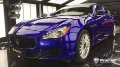 Maserati Quattroporte - Gloss Raspberry Blue (WrapStyle) Tags: maserati quattroporte glos raspberry wrap wrapstyle