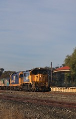 X50 and 8129 pass the now abandoned Minyip station building (bukk05) Tags: railpage:class=17 railpage:loco=x50 rpauvicxclass3 rpauvicxclass3x50 x50 8129 xclass 81class wimmera world wagons wheat winter explore export engine emd electromotivediesel railway railroad railpage rp3 rail railwaystation railwaystations train tracks tamron tamron16300 trains yarriambiackshire yarriambiack photograph photo pn pacificnational loco locomotive jt26c2ss g26c emd16645e emd16645e3b horsepower hp grain graincorp flickr freight diesel station standardgauge sg australia artc 2017 zoom canon60d canon clyde clydeengineering victoria vr victorianrailway vline victorianrailways minyip hopetoun 9785 abandoned building