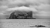 Low Cloud Over Bass Rock (roseysnapper) Tags: bw bassrock cantybay olympusmzuikoed40150mm14056 olympusomdem10ii silverefexpro20 bird blackandwhite cloud drama gannet lighthouse monochrome nature outdoor weather sea coast beach landscape seascape scotland northberwick