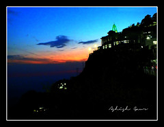 Supernatural View of Mata Ardhkuwari Temple at the time of Dusk - JAI MATA DI (Ashish Gaur - UPCL, Kanwali, Dehradun.) Tags: temple ardhkuwari dusk vaishnodevi jammu katara sky silhouette jaimatadi hindu durga divine