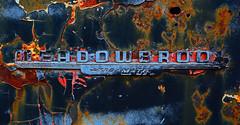Meadowbrook Gyro-Matic (davidwilliamreed) Tags: meadowbrook gyromatic transmission old rusty crusty metal dodge car auto automobile emblem metallic abandoned neglected forgotten rust patina peelingpaint weathered vividcolor decay textures simpsonfarm hallcountyga