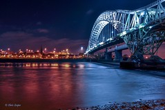 Sliders Sunday - Runcorn Bridge at Night. (Chris Scopes) Tags: sundaysliders runcorn runcornbridge liverpool river rivermersey
