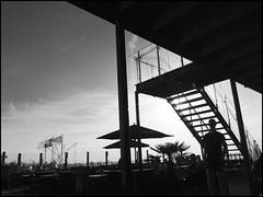 Beach Club ONE! (Ageeth van Geest) Tags: monochrome blackandwhite bw duch sea sand hoekvanholland club beach