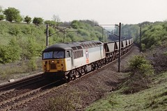 28-04-1999 56124 @ Stonebridge (steveporrett) Tags: 28041999 56124 28 april 1999 uk england great britain train railway track county durham mgr class 56 transrail stonebridge