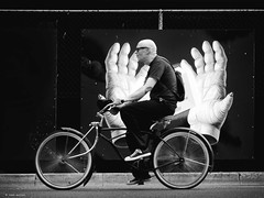 easy rider (René Mollet) Tags: easy rider bicycle blackandwhite bike hand streetphotography street shadow silhouette streetart urban urbanlife