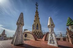 Palau Güell (olemoberg) Tags: palaugüell gaudí barcelona spain rooftop sculptures