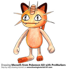 Meowth from Pokemon GO with ProMarkers [Speed Drawing] (drawingtutorials101.com) Tags: meowth pokemon go pokémon video games augmented niantic dennis hwang junichi masuda promarkers alcohol markers promarker color colors coloring draw drawing drawings how timelapse