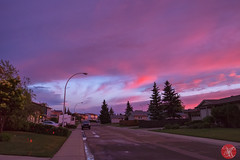 Still admireing the beauty (Kasia Sokulska (KasiaBasic)) Tags: fujix canada alberta edmonton sky weather sunset clouds storm residential street