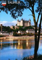 postcard - Saumur, France 2 (Jassy-50) Tags: postcard chateaudesaumur chateau castle saumur france loirevalley loireriver unescoworldheritagesite unescoworldheritage unesco worldheritagesite worldheritage whs river