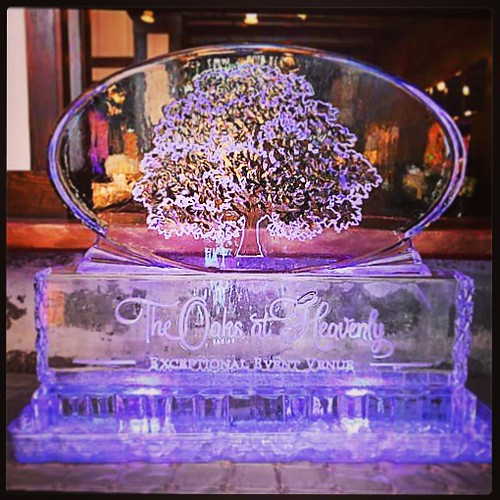We had such a great time last night @theoaksatheavenly #openhouse #event to celebrate their beautiful new #venue Looking forward to contributing to many more great events! #fullspectrumice #thinkoutsidetheblocks #brrriliant #wedding #eventprofs - Full Spe