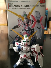 SD EX-Standard Unicorn Gundam (Destroy Mode) (gundamflexing) Tags: gundam gunpla unicorn sd mecha mech toys destroy mode