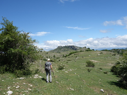 Approaching Monte Guadagnolo from Monte Calo