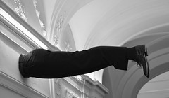 Jump (Anoplius) Tags: prag prague anoplius nikon nikond5100 capital blackandwhite schwarzweiss monochrome man mann wall wand shoe schuhe hose