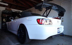 Honda S2000 (Kevin Ho 車 Photography) Tags: honda s2000 ap1 ap2 conversion jdm japan japanese best motoring international davis california sandiego rsx rsxs prelude nissan 300zx nismo amuse hardtop white grand prix spoon q300 invidia stock red emblem miata mx5 na nb nc s2ki forum roadster kevins2oooo imports ucsd uc san diego la jolla hopkins gilman parking structure photoshoot black