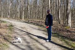 Kevin and Dooley, Perambulating (marylea) Tags: apr22 2017 hudsonmillsmetropark hudsonmills walk kevin dooley spring springtime
