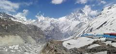 Family trekking view from Annapurna base camp (Rajendra Thapa (Raj)) Tags: landscape annapurnabasecamp mountain