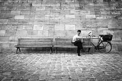 Topless Office (Hans-Jörg Aleff) Tags: berlin blackwhite streetphotography toplessoffice deutschland