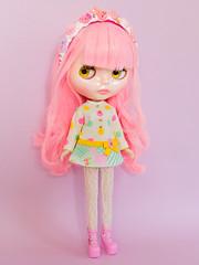 Mod Dress Spam! (Helena / Funny Bunny) Tags: funnybunny solidbackground lollipop phoebemaybe custom reroot rbl blythe
