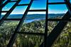 Bogstad Lake viewed from Holmenkollen Tower - Oslo Norway