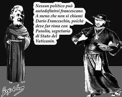 Nessun politico può definirsi francescano (satira-italia) Tags: beppe grillo cardinale parolin